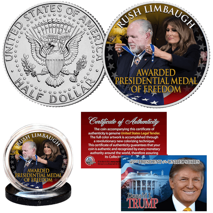 Rush Limbaugh Medal of Freedom Coin